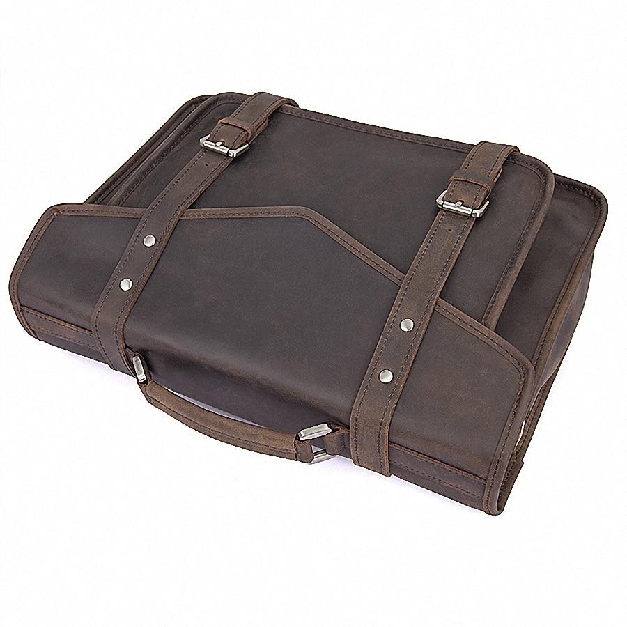 Tasche Zoll Brown Portfolio 14 Leder Handtasche Aktentaschen Neue Schulter Mode 1972 Laptop Li 100 Messenger Männer Echtem Männlichen Bags qFpnSC7