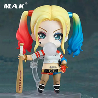 10CM PVC Suicide Squad Q Version Nendoroid Harley Quinn And Joker Jared Leto Anime Action Figures