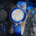 2017 kezzi nova marca de moda genuína pulseira de couro as mulheres se vestem relógios relógio de quartzo relógio de pulso à prova d' água k952