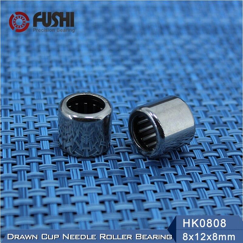 Needle Bearings HK0808 HK0810 HK0812 HK081410 HK0910 HK0912 ( 10 Pcs ) Drawn Cup Needle Roller Bearing bk4012 drawn cup caged needle roller bearings with closed end 25941 40 the size of 40 47 12mm