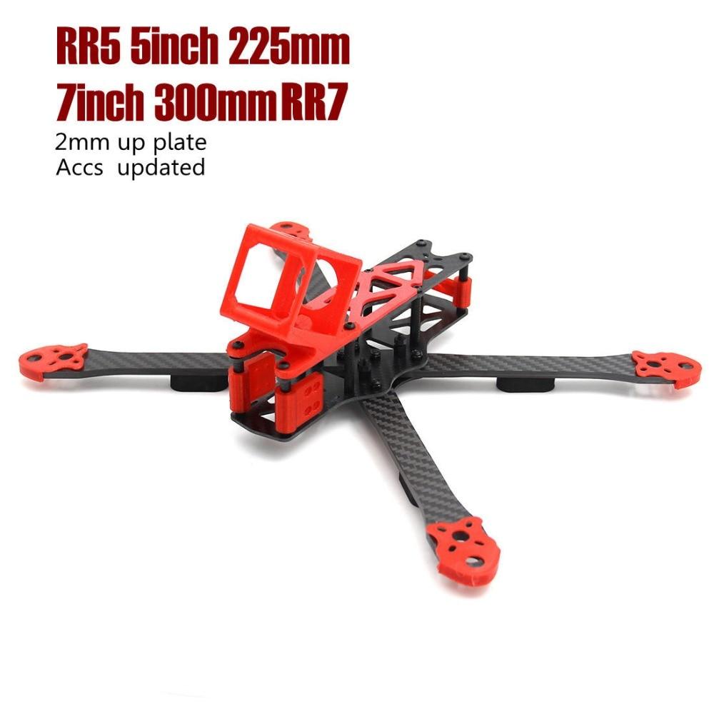 LEACO RC Alien RR5 5 pouces 225mm RR7 7 pouces 300mm 3D pièces d'impression 2mm p plaque quadrirotor drone cadre kit