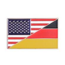 Germany USA Flag Enamel Pin German American Badge Brooch(China)