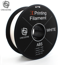 CREOZONE 3D Printing Filament ABS Plastic for 3D Printer 1.75 1KG (2.20LBS) Filament 3D Printer White