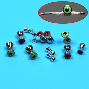 20PCS/Lot 3D Realistic Solid Dumbbell Fish Eyes Fly Tying Materials/Sunken Brass Dumbbell Beads