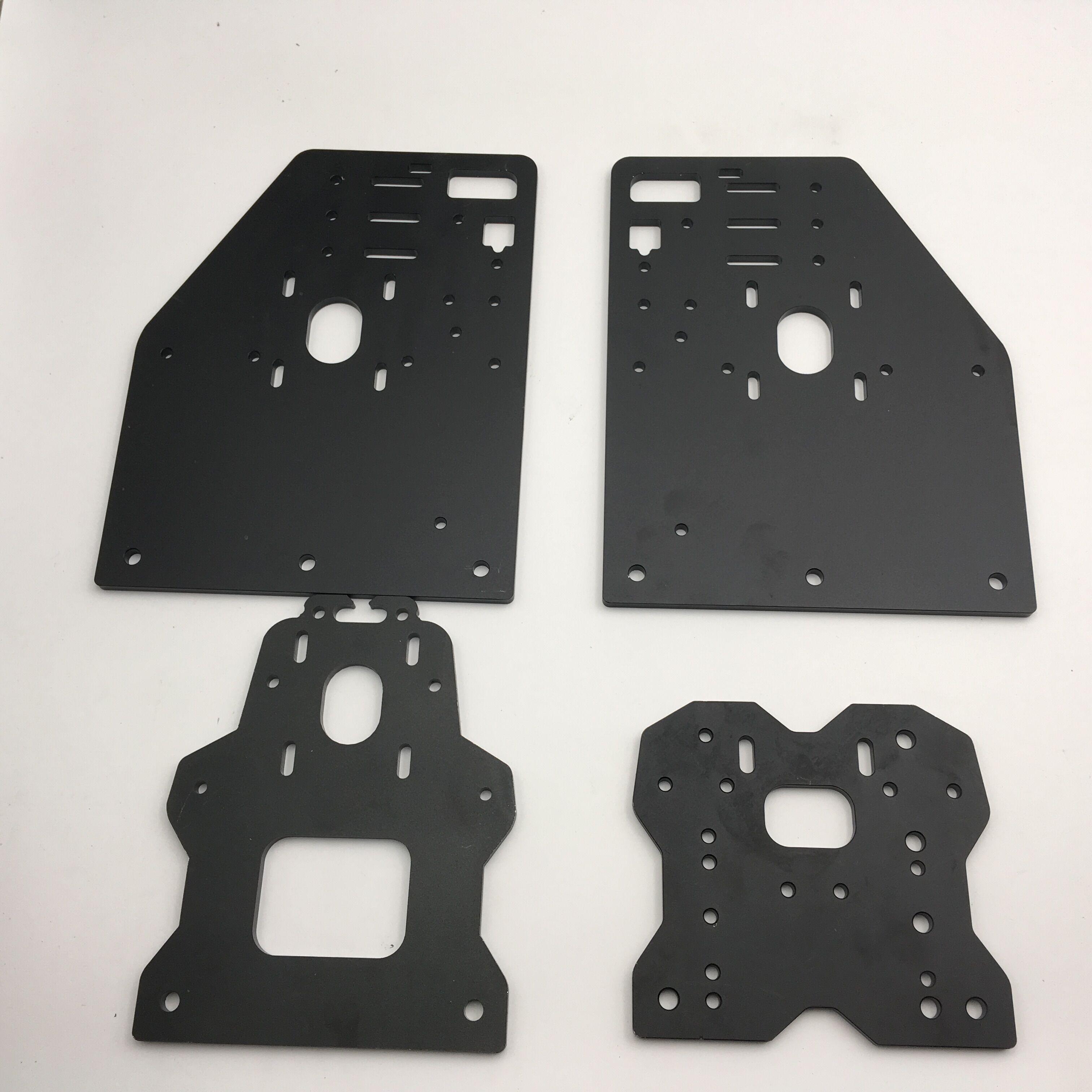 Kit de plaques en Aluminium Funssor OX CNC jeu de plaques de portique CNC OX openbuild KIT de routeur CNC v-slot
