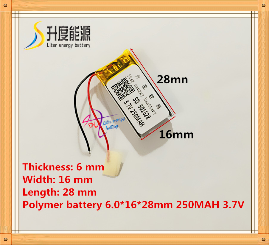 601628 061628 3.7V 250mAh Lithium polymer battery rechargeable lipo battery MP3 MP4 GPS Bluetooth headset battery601628 061628 3.7V 250mAh Lithium polymer battery rechargeable lipo battery MP3 MP4 GPS Bluetooth headset battery