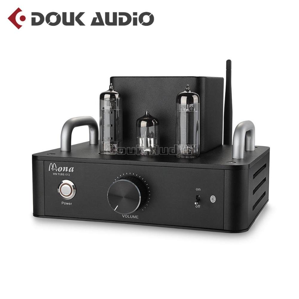 Douk Audio Hi-Fi 6P14(EL84) Vacuum Tube Amplifier Bluetooth Single-Ended Class A Stereo Power Amplifier 4W*2 j 012 muzishare x3t 5ar4 2 dual rectifier circuit integrated vacuum tube amplifier el84 2 pure class a single ended power amp
