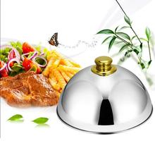 Stainless Steel Dome Food Meal Cover Steak Cover Cheese Melting Dome Serving Dish Food Cover for Home Restaurants Hotels Banquet food serving trolley for indian marriage halls