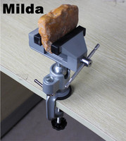 Mini Bench Vice Dremel Grinder Accessory Electric Drill Stand Holder Drill Stent Clip On Clamp Vice