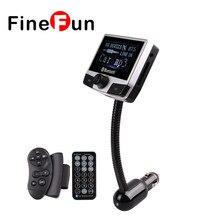 FineFun FM8112B 2.4 pulgadas Inalámbrico Bluetooth Reproductor MP3 Manos Libres de Coche Kit SD Reproductor de Audio MP3 WMA Transmisor FM Estéreo Para teléfono