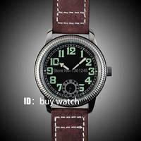 44 Mm Panis Zwarte Wijzerplaat Speciale Big No @ 6 Mechanische Mens Horloge PA152HA-in Mechanische Horloges van Horloges op