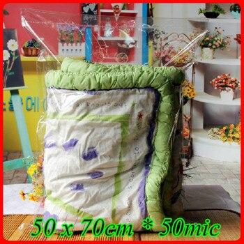 100pcs/lot 50 x 70cm*50mic Self Adhensive Seal Plastic Packaging Bag,Clear OPP Poly Bag,Transparent OPP T- shirt Packaging