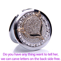 Engrave words free,bling rhinestone sexy fox,Mini Beauty pocket makeup compact mirror makeup,wedding party bridesmaid gifts