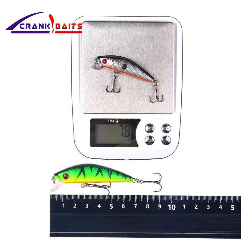 Appâts à manivelle 7 cm 7.8g leurre de pêche Minnow appâts durs appâts durs Wobbler Jerkbait 10 couleurs poisson flottant nagbait Pesca YB9