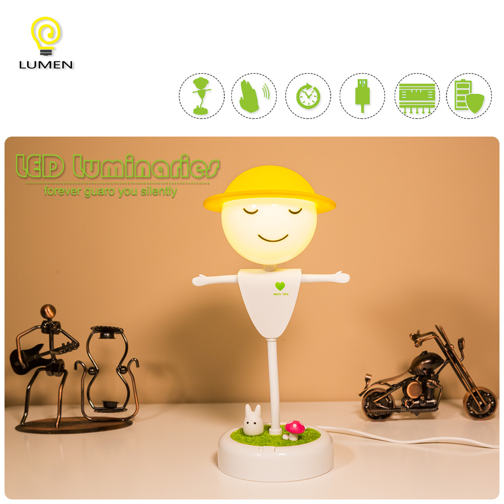 Luminat Lovely Led Nightlights Scarecrow Small Lampes Touch Sensor Lampes Bedroom Cartoon Kids Birthday Gifts