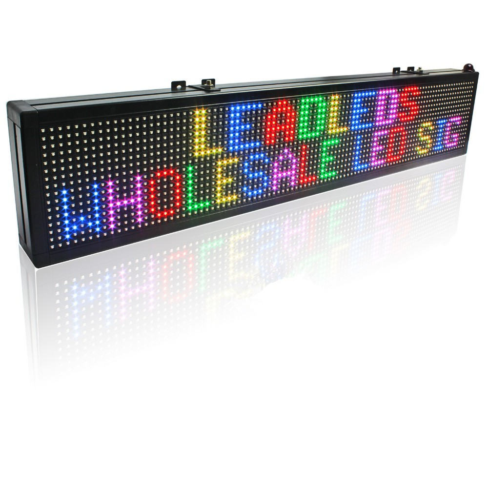 100.5 x 15cm Full Color LED Sign / SMD RGB Can Programmable Scrolling Message LED Display Board Can be used in stores warehouse