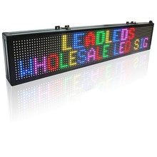 100.5 x 15cm Full Color LED Sign / SMD RGB Can Programmable Scrolling Message LED Display Board Can be used in stores warehouse цена