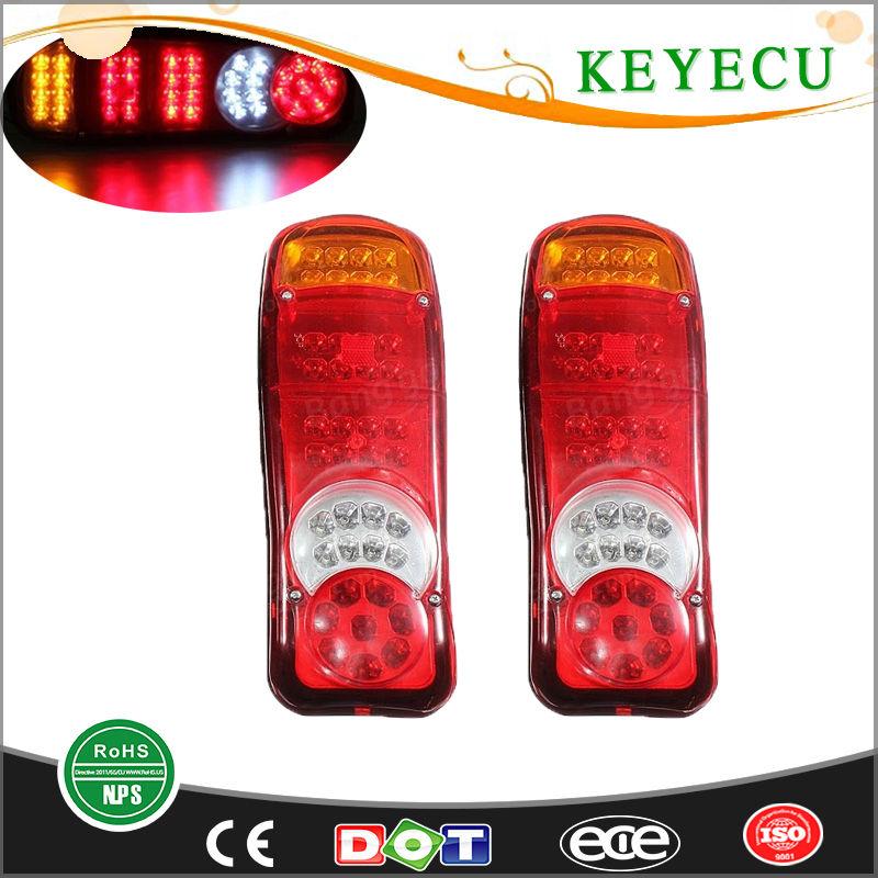 Keyecu 12V 13.5 46Led Trailer Truck Van Caravan Stop Rear Tail Indicator Fog Light Fit for Trailers, Trucks, Utes, ,Boat,,Vans
