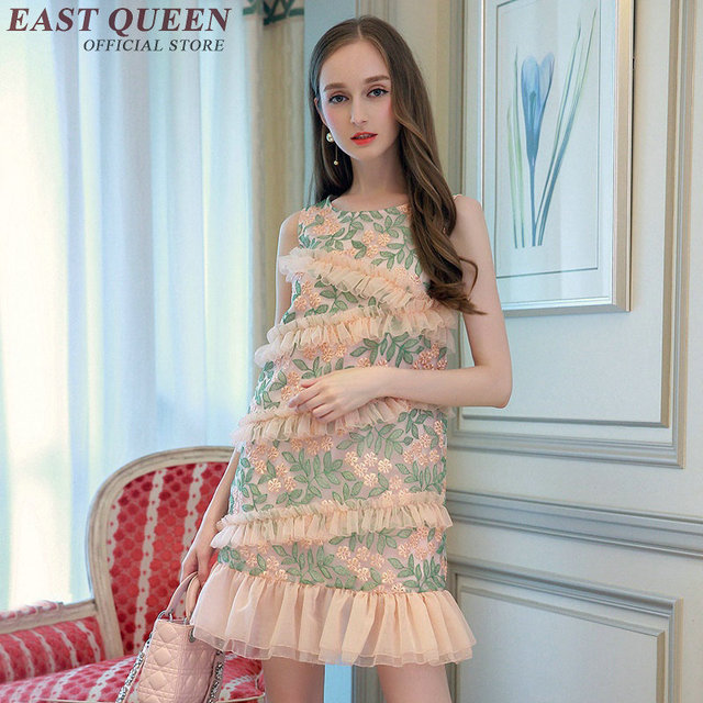 039d0dbec06 Oriental style dresses women modern chinese traditional dress ladies  elegant dresses for teens 2018 summer new arrival NN0597 Y