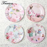 European Rural Bone China Cake Dishes And Plates Porcelain Pastry Fruit Tray Ceramic Tableware For Steak
