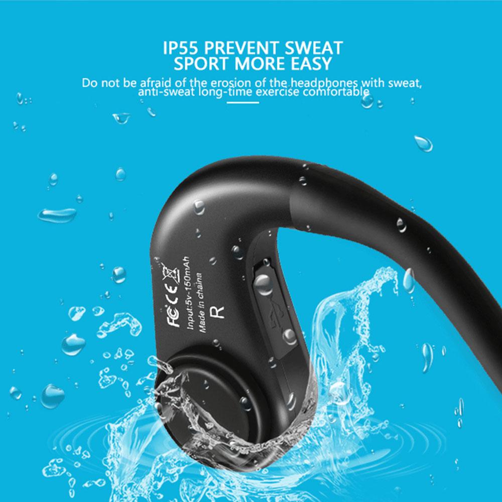 La nave in 72 Ore! Bluetooth 4.1 S. Wear Z8 Cuffie Conduzione Ossea Auricolare Senza Fili di Sport Esterno Auricolare con Il Mic Con La Scatola