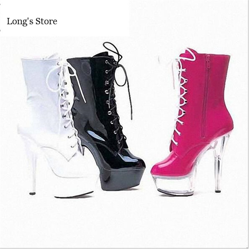 ФОТО CDTS Plus:35-45 46 2016 Spring/Summer 15CM ladies Work Boots thin high heels  platform pumps woman shoes