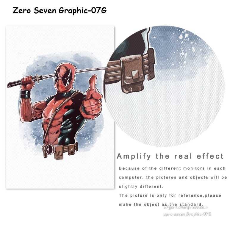 Акварель супер герой Человек-паук Железный человек холст живопись плакат и печать стены искусство картина для украшения комнаты