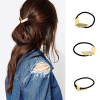 European And American Fashion Jewelry Metal Smooth Hair Rope Ring