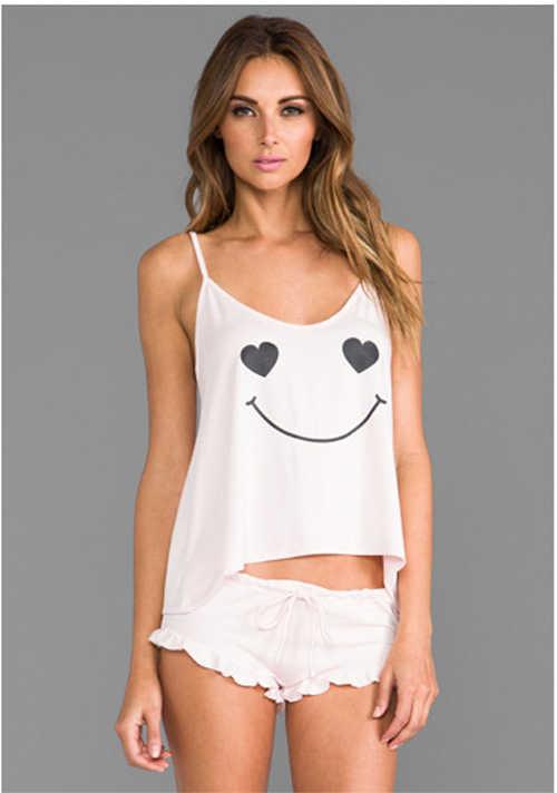 e040d94aee ... Women Modal Pajama Set Girl Cute Pyjama Set Sleeveless Pijama Set Round Neck  Sleepwear Sexy Nightwear ...