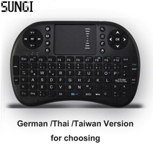 German/Thai/Taiwan I8 2.4 GHz Wireless Mini Keyboard Air Mouse Touchpad Remote Control For Android TV Box Notebook Tablet PC