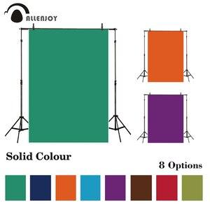 Image 1 - Allenjoy jednolity kolor winylu fotografia tło głęboki czysty kolor tła zdjęcie Studio fotokomórki Photophone strzelać Prop tkaniny