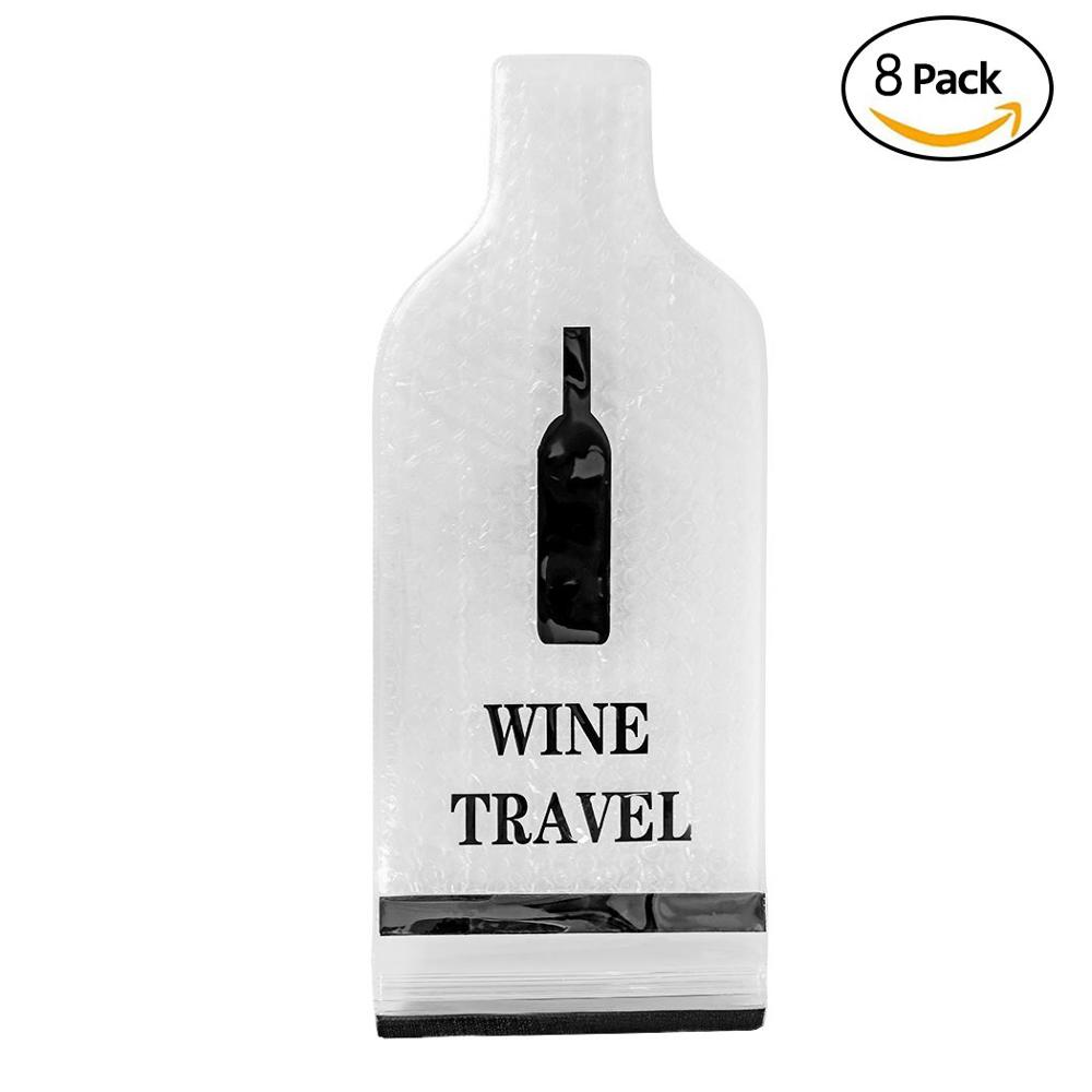 Us 15 99 Wine Bottle Protector Sleeve Reusable And Portable Travel Bags Safe Transport Leakproof With The Gift Opener In Storage From