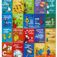 10 peices/ロットオリジナル英語子供の絵本ステッカー大判英語絵本