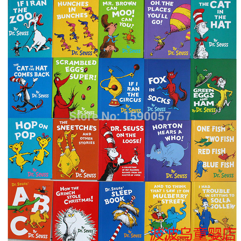 20 Pcs/set The Wonderful World Of Dr. Seuss Children Story Books Kids Child Children Toy Gift , English Picture Story Book