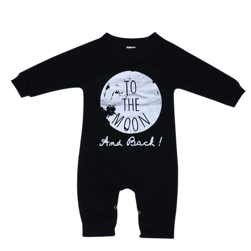 Fashion Autumn Baby Clothes Rompers Infant Kids Long Sleeve Letter Printed Jumpsuit Cotton Baby Girls Boys Romper for 0-36M