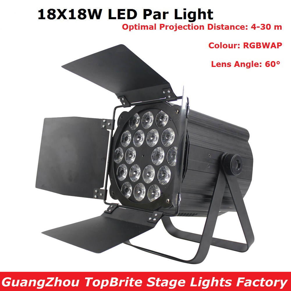 Hot Sales 18X18W RGBWAP 6IN1 LED Stage Par Lights Professional Disco DJ Bar Effect UP Lighting Show DMX Strobe For Party Clubs wireless romote control led par cob 30w lighting dmx control for stage lighting effect professional for dj party club disco