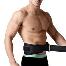 Mounchain Adjustable Angkat Berat Kulit Kebugaran crossfit Belt lifting strap Dukungan Stainless lock jaw Gym Fitness Guard