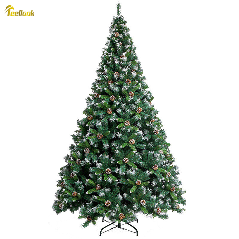 Teellook 2.1m/2.4 M / 3.0m Soiled White Snowflake Christmas Tree Decoration Pineal Auto Mall Bar Decorated Hotel