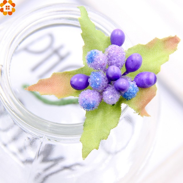 Online Shop 10Pcs Mini artificial Stamen Bud Bouquet DIY flower ...