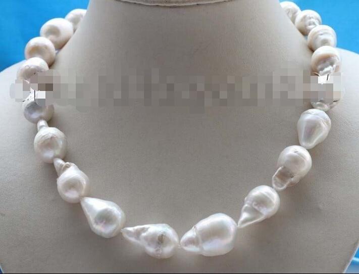 Free Shipping Genuine Natural 24mm White Reborn Keshi Pearl Necklace 14KGP #f1768!Free Shipping Genuine Natural 24mm White Reborn Keshi Pearl Necklace 14KGP #f1768!