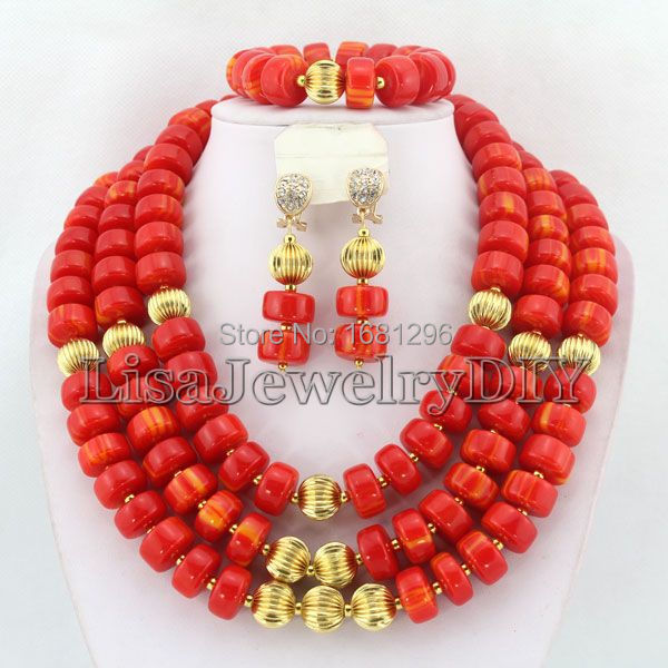 African Coral Beads Jewelry Sets Nigerian Wedding African Beads Jewelry Sets Free Shipping     HD0804African Coral Beads Jewelry Sets Nigerian Wedding African Beads Jewelry Sets Free Shipping     HD0804