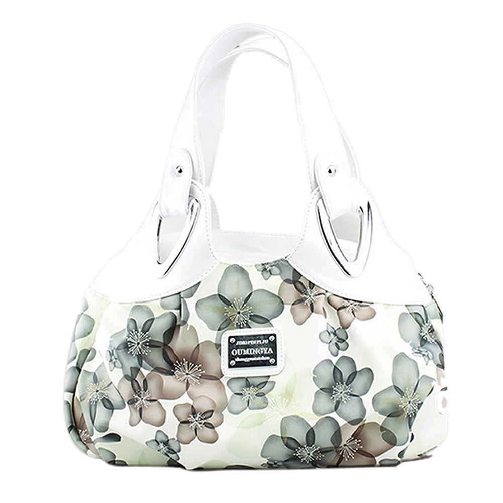 Image 5 - FGGS Fashion handbag Women PU leather Bag Tote Bag Printing Handbags Satchel  Dream safflower + white Handstrapbag embroideryhandbag pvchandbag inner bag -