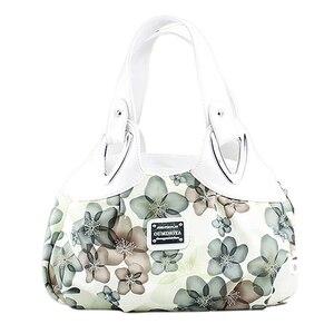 Image 5 - FGGS modna torebka kobiety PU skórzane torby dużego ciężaru torba torba drukowanie torebki Satchel sen szafranowy + biały pasek na rękę