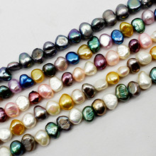 FishPeach 6-7mm Geometric White Grey Freshwater Natural Pearl Loose Stone Beads For Jewelry Making DIY Necklace Bracelets Strand цены онлайн