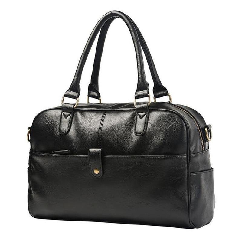 High Quality PU Leather Men Travel Bags Large Capacity Men Messenger Bags Travel Duffle Bag Handbags Mens Shoulder Bags Valise