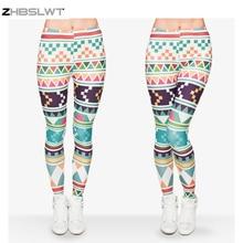 ZHBSLWT New Fashion 3D Print High Quality Women Leggings Plus Size Geometric patterns
