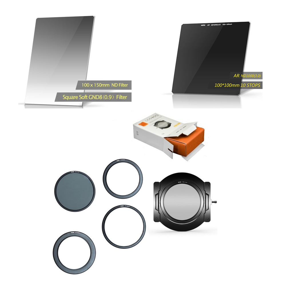 Nisi Square Filter Soft GND8(0.9) 100*150mm + ND1000 Filter+Cleaning Kit+v5pro Holder