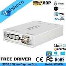 USB3.0 SDI DVI HDMI к USB карта видеозахвата донгл потоковая игра потоковая трансляция 1080 P OBS/vMix/Wirecast/Xsplit