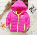 Jaqueta de inverno crianças marca de moda de algodão-acolchoado recreativas jaquetas esportivas 2-7 anos de bebê da menina do menino casaco quente frete grátis