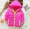 Los niños de invierno marca de moda de la chaqueta de algodón acolchado niño niña chaquetas deportivas recreativas 2-7 años bebé de la capa caliente envío gratis